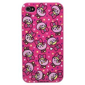 カスタムカバー 豆しぱみゅぱみゅ (総柄 pink ピンク) iPhone4/4S ケース