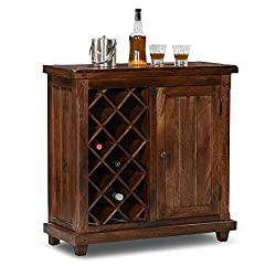 HomeEdge Cambria Bar Cabinet Teak HEBC002
