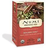 Numi Organic Tea Golden Chai, Full Leaf Black Tea, 18-Count Tea Bags (Pack of 3)