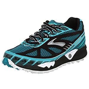Brooks Women's Cascadia 4 Running Shoe,Teal/Black/Silver,12 B