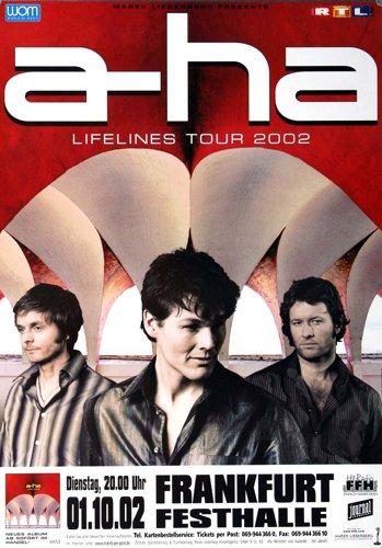 a-ha ( Morten Harket ) - Lifelines 2002 - Concert Poster Plakat
