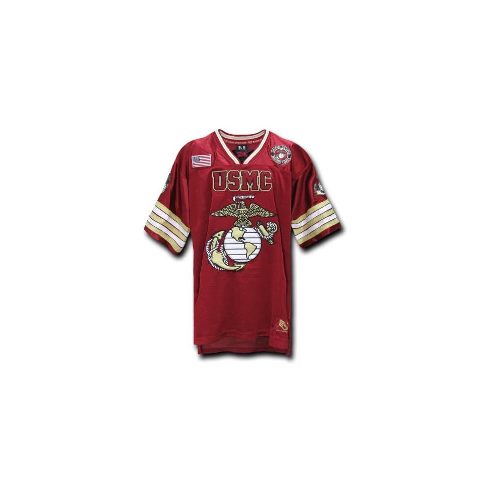 0c965d0ae Rapid Dominance US Marines Military Football Jersey (Cardinal ...