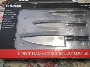 Fujimaru 3 Piece Damascus Steel Cutlery Knife Set