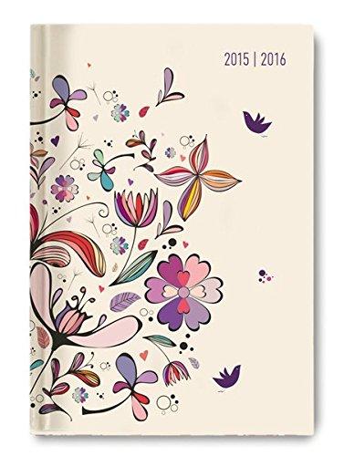 Alpha Edition 160721 Flower Art Diario Scuola Collegetimer A6 20152016 1 Giorno 1 Pagina PDF