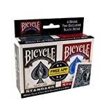 Special Value 4 Pack Rider Back Poker Playing Cards W/ 2 Black & 2 Red Decks by Bicycle