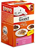 Gourmet Mon Petit Indulgent New Meat Recipes with Game Liver and Beef Wet Cat Food (Pack of 8)