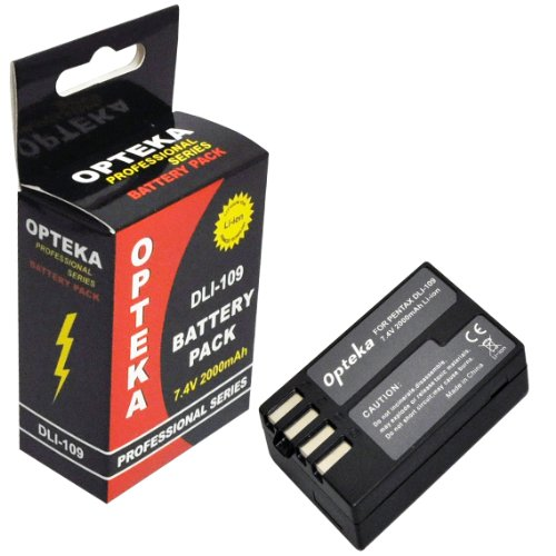 Opteka D-Li109 2000mAh Ultra High Capacity Li-ion Battery Pack for Pentax K-R KR Digital SLR Camera