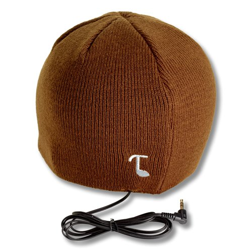 Tooks Classic Headphone Hat With Built-In Removable Headphones - Color: Brown
