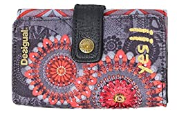 Desigual Lengueta S New Wallet, Red, One Size