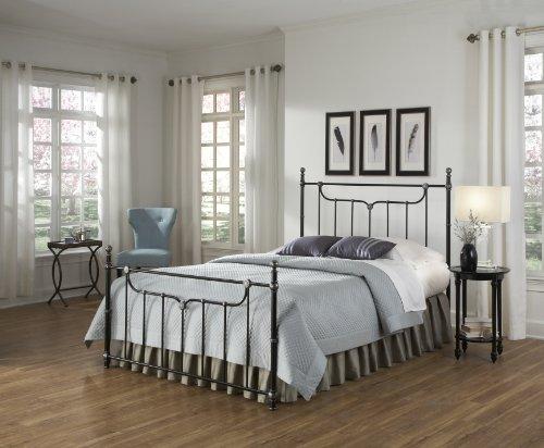 Fashion Bed Group Leggett And Platt Merrill Bed, California King, Iced Black front-921384