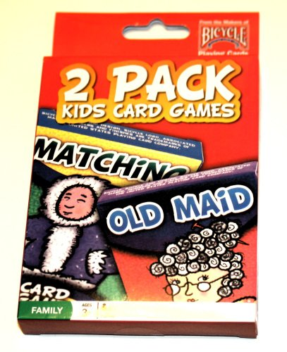 2 Pack Kids Card Games Matching & Old Maid - 1