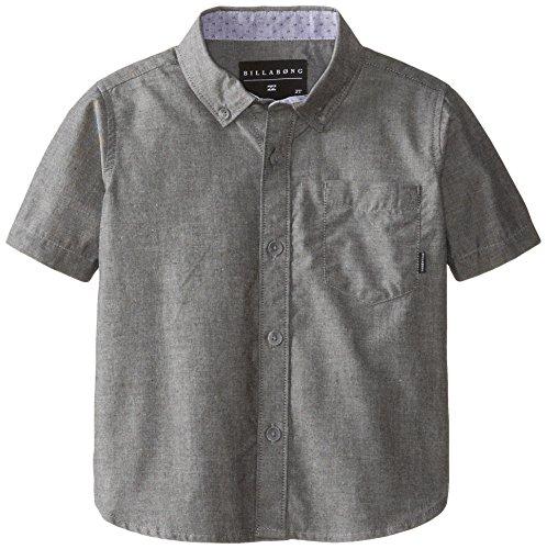 Billabong Little Boys' Kids All Day Short Sleeve Woven, Black, 3T front-756316