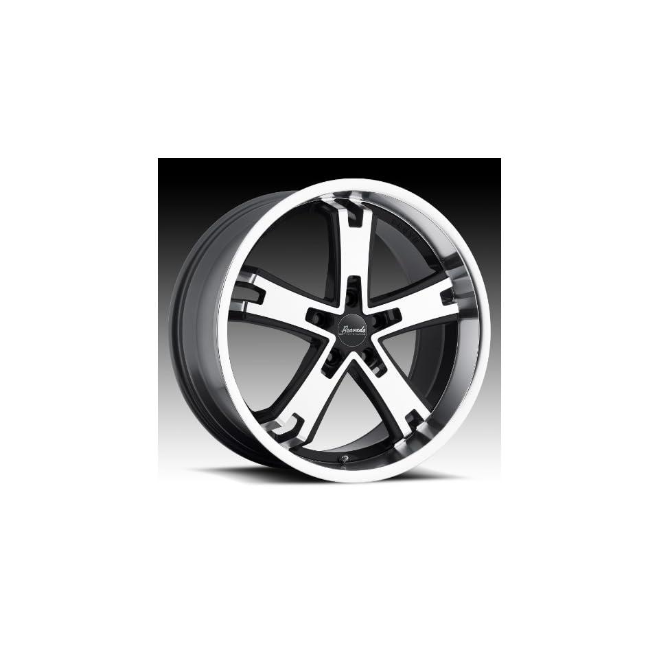 20x9.5 Bravado Brute (Black w/ Machined Face) Wheels/Rims 5x114.3 (BR0N514405)