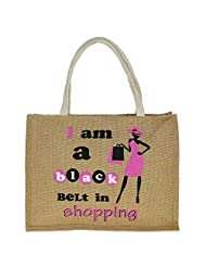 Jute Multipurpose Shopping Bag With Zipper - B015H6F1CI