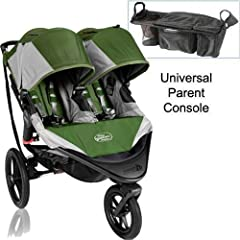 Baby Jogger Summit X3 Double Jogging Stroller with Parent Console - Green Gray by BaJogger