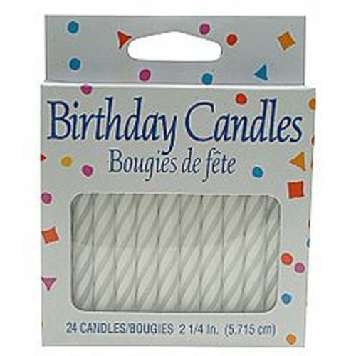 American Greetings Guild House Spiral Birthday Candles White Small (24 Candles) - 1