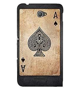 EPICCASE A Spade Mobile Back Case Cover For Sony Xperia E4 (Designer Case)