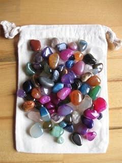 Bls - Pietre semi preziose in confezione di stoffa, 90 pezzi