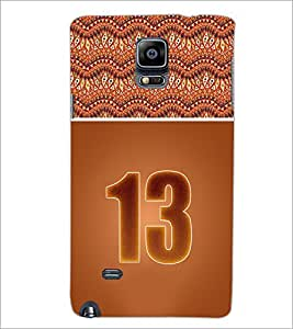 PrintDhaba Numerology Number 13 D-3646 Back Case Cover for SAMSUNG GALAXY NOTE 2 (Multi-Coloured)