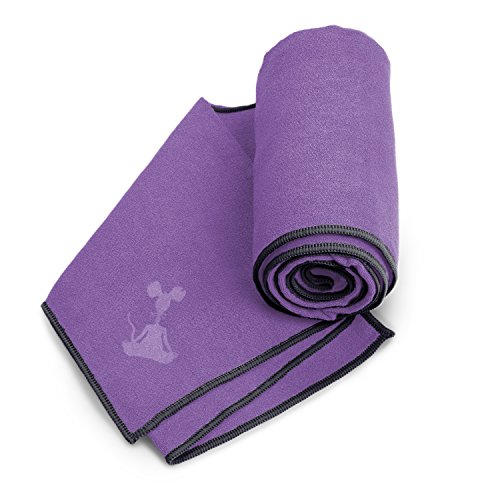 YogaRat Purple-Black 100% Microfiber Yoga Mat Towels