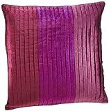 Shahenaz Home Shop Saibya Three Pintex Poly Dupion Cushion Cover - Purple and Pink