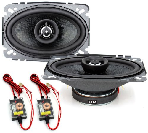 "15-Mc462 Memphis 4""X6"" Mclass 2Way Coaxial Speakers Crossovers Built In Tweeters"