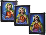 ITALKonline SmartShell 3D BLACK JESUS MARY Back Cover Tough HARD Case / Skin for Apple iPad 2 2nd generation (Wi-Fi and Wi-Fi + 3G) 16GB 32GB 64GB works with GENUINE Apple iPad 2 Smart Cover