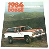 1984 84 Dodge RAMCHARGER BROCHURE 2wd 4wd