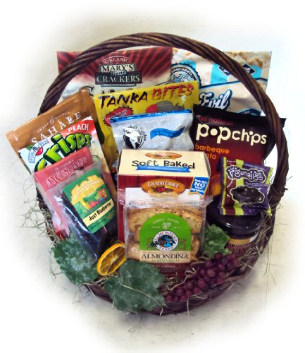 Deluxe Healthy Birthday Gift Basket for Him