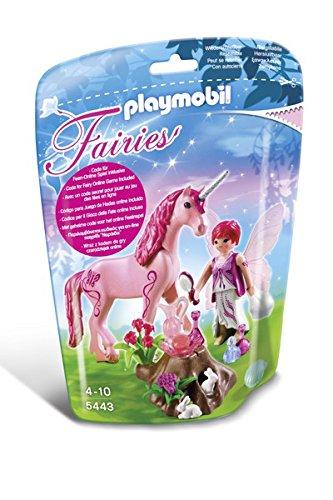 Playmobil-5443-Figurine-Fe-Coquette-Avec-Licorne-Rose