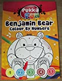 Pukka fun benjamin bear colour by numbers colouring book for children A5 size