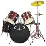 Groove Percussion GP100 Wine Red 5 Piece Drum Set