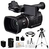 Panasonic AG-AC90A AVCCAM CAMCORDER Video Camera with 12x Optical Zoom with 3.5-Inch LCD(Black) AGAC90APJ + 16GB 10 PC Accessory Kit. Includes 16GB Memory Card + Reader + Extended Life Battery (CGA-D54) + HDMI Cable + Rapid Charger + Tripod + Starter Kit + Microfiber Cleaning Cloth
