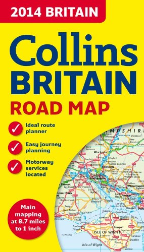 2014 Collins Map of Britain (Collins Road Map)