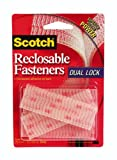 3M Scotch RF9730 Reclosable Fasteners 1 x 3-Inch Clear, 6-Pack
