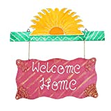 999Store welcome home name plate door hanging rajasthani handicraft gift item home décor hand painting