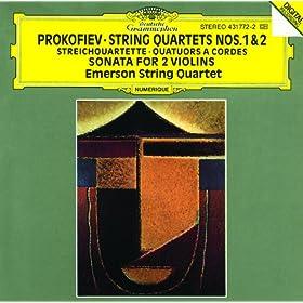 Prokofiev: String Quartets Nos.1 & 2; Sonata for 2 Violins