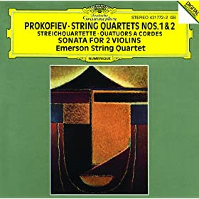 Prokofiev: String Quartets Nos.1 & 2; Sonata for 2 Violins