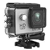 SJCAM SJ4000 1080P Action Camera 12MP Waterproof Underwater Camera 2.0 LCD Screen Display FHD Sports Camcorder- Silver