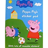 Peppa Pig Sticker Pad - Reusable Stickers (Pack of 1)