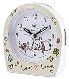 Disney 目覚まし時計 Love Loveシリーズ くまのプーさん アナログ表示 連続秒針 ライト付き アイボリー DIA-5527-2PH