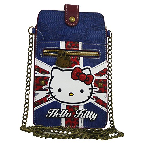 Hello Kitty England Flag Borsa Portacellulare Pochette Clutch
