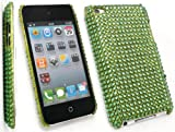 FLASH SUPERSTORE APPLE IPOD TOUCH 4 ( 4TH GEN ) DIAMANTE HARD BACK COVER DIAMANTE GREEN