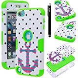 IPod Touch 5 Case, IPod Touch 5 Defender Case, E LV IPod Touch 5 Case Cover - Dual Layer Hybrid Armor Defender...
