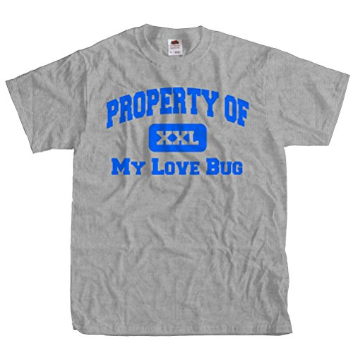 ShirtScope Property of My Love Bug T shirt Funny Tee 2XL (Fashion Bug Plus Size)