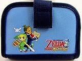 """The Legend of Zelda 4.5"""" Nintendo DS Lite Case Blue - San-Ei Japan 2005 LOOSE"""
