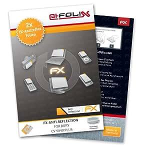 2 x atFoliX Film protection d'écran Bury CV 9040 Plus Film protecteur Protecteur d'écran - FX-Antireflex anti-reflet