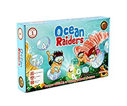 Educational Math Game Ocean Raiders Awesome Addition Board Game Summer Stem Gift for kids