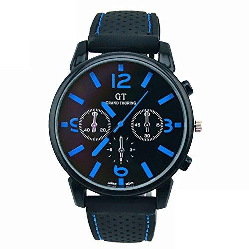 Bocideal 1PC Men Luxury Cool Sport Stainless Steel Quartz Watch Blue