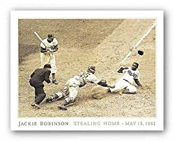 "Jackie Robinson Stealing Home May 18, 1952 by Rachel Robinson 28""x22"" Art Print Poster"